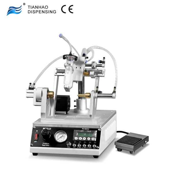 Thread Coating Machine with Syringe Dispensing For Anaerobic Thread Sealant