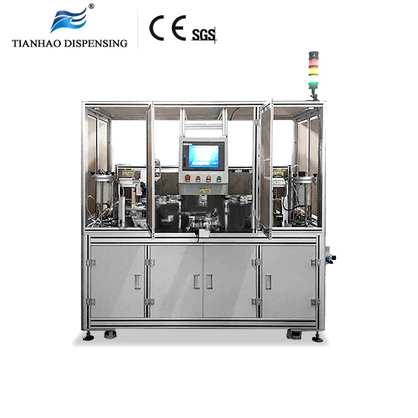 Two heads Full automatic thread coating Machine for Pre applied or anaerobic