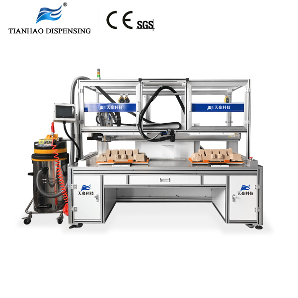 3 Axis Gantry robotic coating System with dual work table For car engine